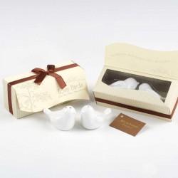 Set sal y pimienta pájaros en caja de regalo