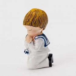 Imán Comunión marinero rezando de rodillas