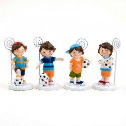 Portafotos o portanotas niño futbolista