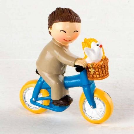 Niño Comunión en bicicleta, detalle para comunión