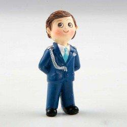 Imán resina niño Comunión traje azul