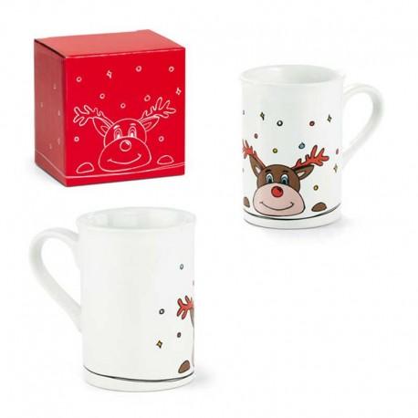 Taza estilo mug, Reno Navidad