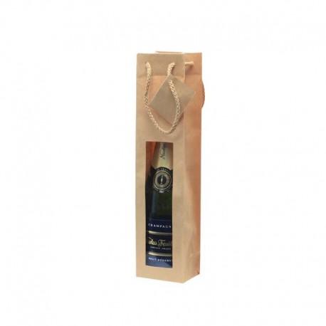 Bolsa de papel reciclado para botella de vino, regalo Boda