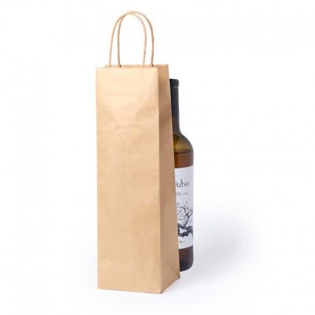 Bolsa de papel barata para botella de vino