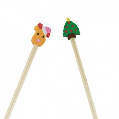 Lápices con goma para regalar en navidad