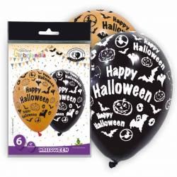 Bolsa 6 globos Happy Halloween