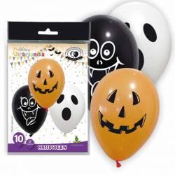 Bolsa 10 Globos de látex Halloween