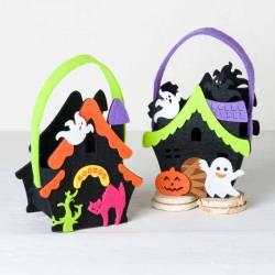Casa cestita infantil para Halloween