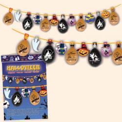 Guinarlda con globos para Halloween, 5 metros