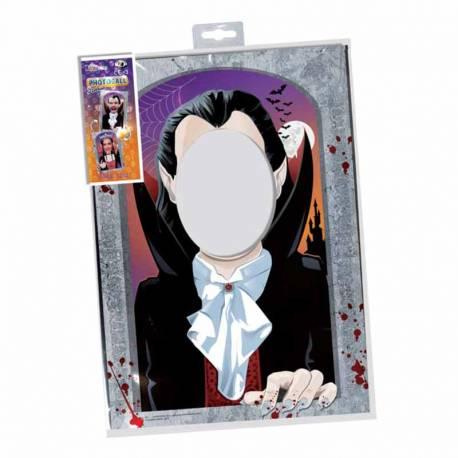 Photocall con doble cara, Drácula y Vampiresa