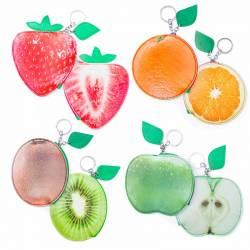 Monedero llavero frutas