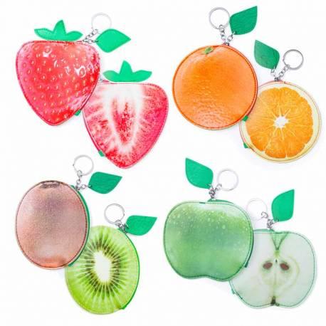Monedero llavero con forma de frutas
