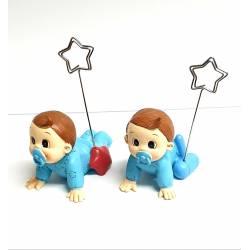 Clip portafoto bebe niño con juguetes