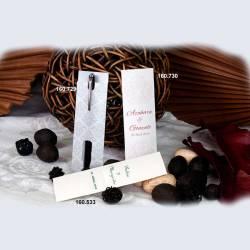 Pack 10 elegantes fundas para bolígrafo de boda