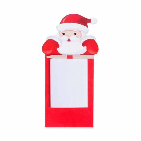 Imán Papá Noel para nevera con bloc y lápiz