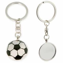 Llavero metálico con forma balón de fútbol