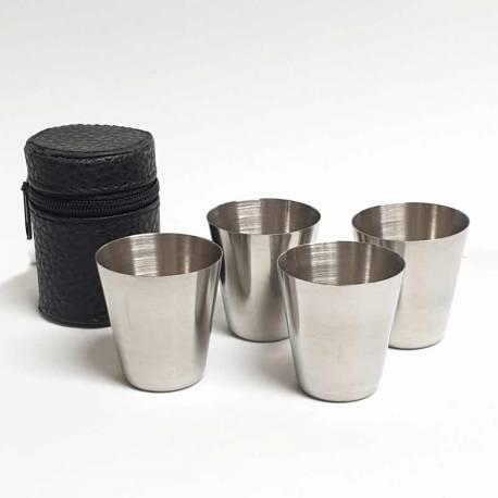 4 vasos de chupitos con funda