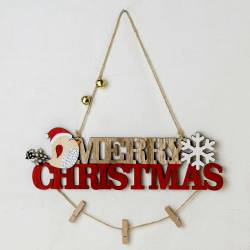 Cartel Merry Christmas en madera