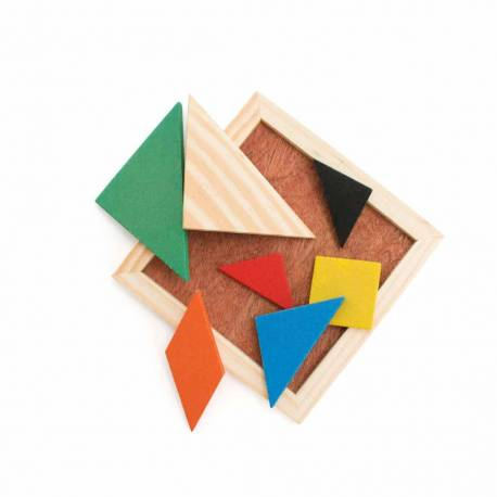 Puzzle Tangram. Juego de rompecabezas