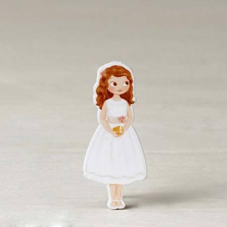 Figura 2D adhesiva niña comunión vestido corto