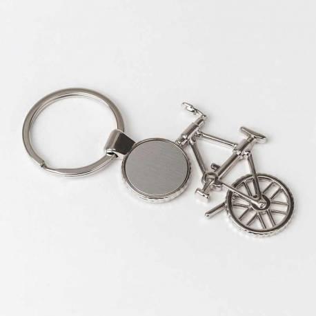 Llavero de metal bicicleta, recuerdo personalizable
