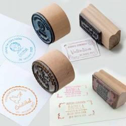 Sellos de caucho con base de madera personalizados para Primera Comunión
