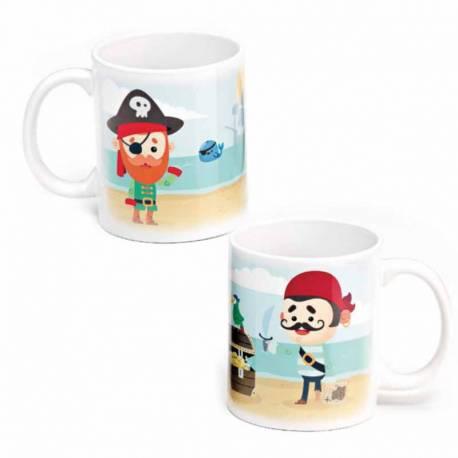 "Taza para recuerdo niño Piratas ""Mi Primera Comunión"""