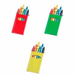 Caja cartulina colores con 6 ceras colores
