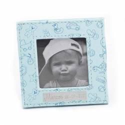 Marco de fotos piel en azul motivos infantiles