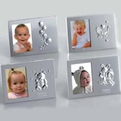 Marco de fotos en metal, motivos bebé
