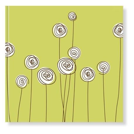 Libro de firmas para boda con diseño floral minimalista