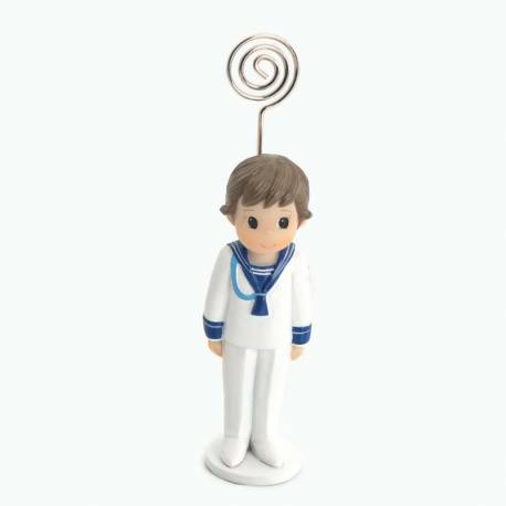 Portafotos niño Comunión traje marinero cordón azul, recuerdo comunión
