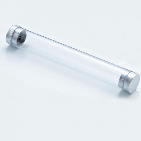 Tubo transparente para presentación del bolígrafo