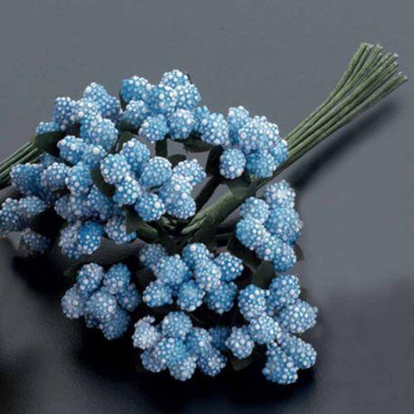 Pomo con 12 flores de bolitas para usar como complemento en la decoración
