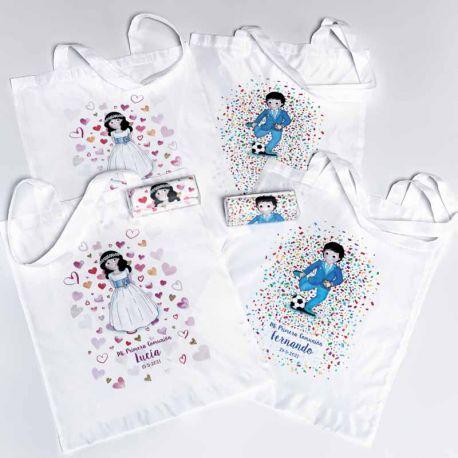 Original bolsa personalizada para comunión