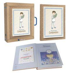Libro de firmas Comunión Mi Primera Comunión, niño marinero con rama de olivo