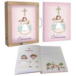 Libro de firmas Mi Primera Comunión, niña en el altar