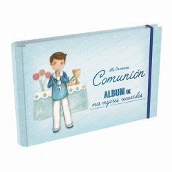 Álbum Comunión Mis Mejores Recuerdos, niño marinero en el altar