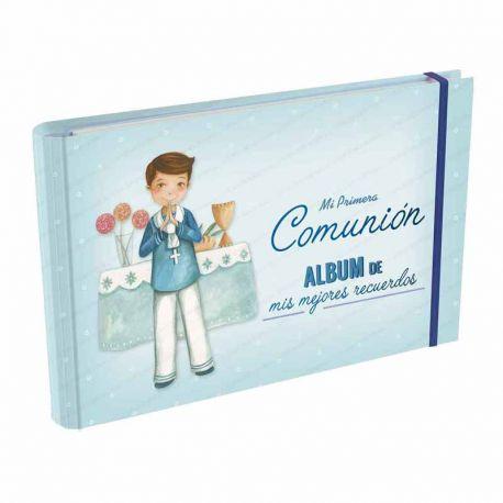 Álbum Comunión Mis Mejores Recuerdos, niño marinero en el altar. Tamaño 23 x 15 x 2,5 cm.