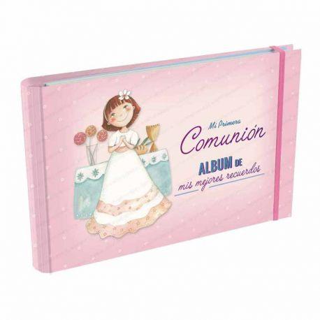 Álbum Comunión Mis Mejores Recuerdos, niña en el altar. Tamaño 23 x 15 x 2,5 cm.
