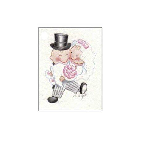 Pita en brazos de Pit, tarjeta para personalizar los detalles de boda