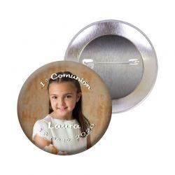 Chapa alfiler personalizada para comunión 3,5 cm