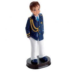 Figura tarta Comunión Almirante Chaqueta azul