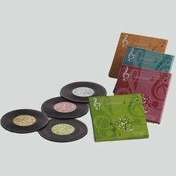 Set 4 posavasos LP vinilo