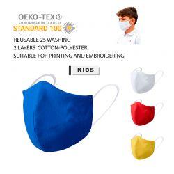 Mascarilla higiénica infantil reutilizable, 10 unidades