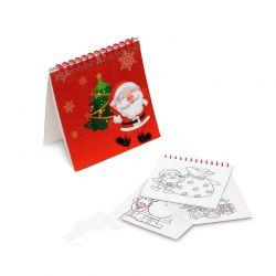 Cuaderno con plantillas motivos navideños