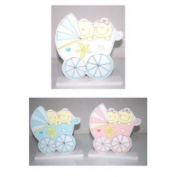 Figura para tarta o pastel en madera bebés