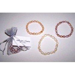 Pulsera perlas barrocas colores