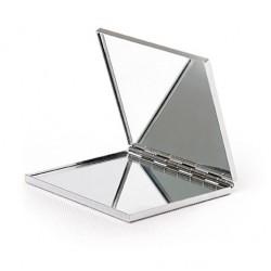 Espejo metal doble cuadrado