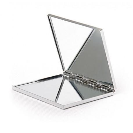 Espejo de metal doble, cuadrado